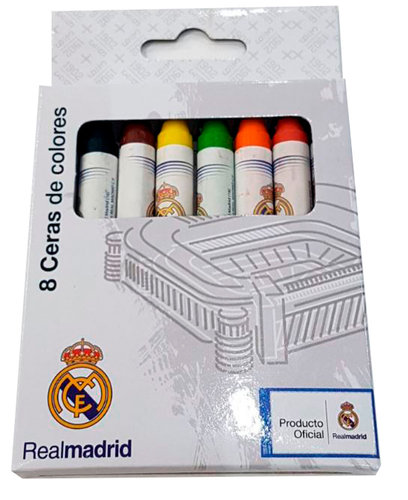REAL MADRID SET 8 CERAS COLORES