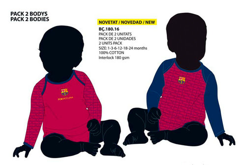 F.C.BARCELONA PACK 2 BODYS GRANATE