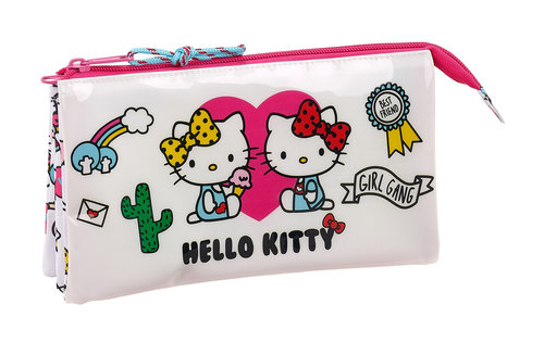 "HELLO KITTY PORTATODO TRIPLE ""GIRL GANG"""