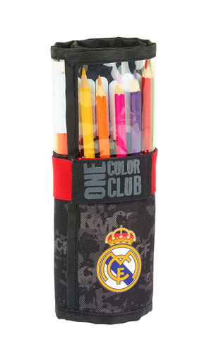 "REAL MADRID PLUMIER ENROLLABLE 27 PZS ""BLACK"""