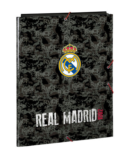 "REAL MADRID CARPETA FOLIO 3 SOLAPAS ""BLACK"""