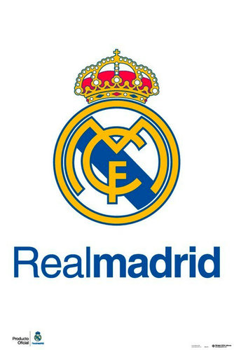 "REAL MADRID POSTER ""ESCUDO"""