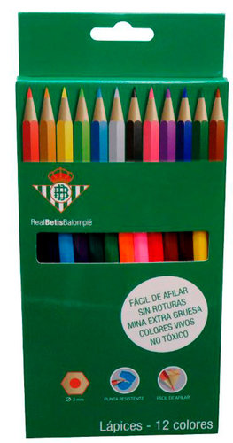 BETIS SET 12 LAPICES DE COLORES