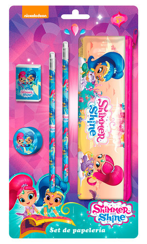 SHIMMER AND SHINE SET PAPELERIA CON PORTATODO