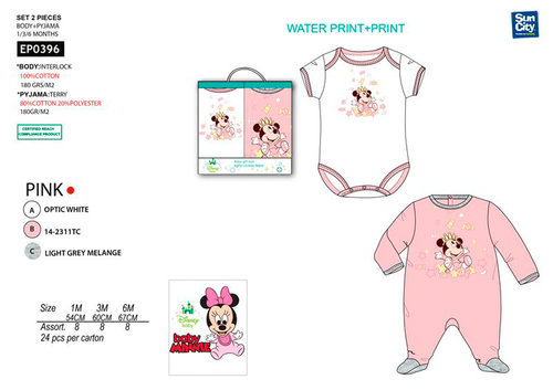 MINNIE PACK BEBE 2 PZS