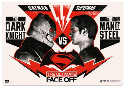 BATMAN VS SUPERMAN TAPETE ESCOLAR