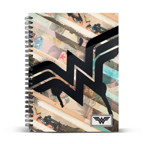 "WONDER WOMAN CUADERNO DIN A4 ""COLLAGE"""