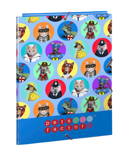 PETS FACTOR CARPETA FOLIO 3 SOLAPAS