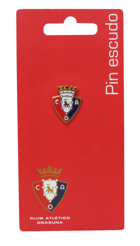OSASUNA PIN ESCUDO LACADO EN COLOR