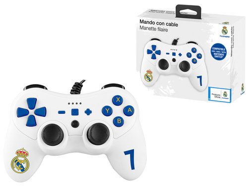 REAL MADRID MANDO C/CABLE COMPATIBLE NINTENDO SWITCH