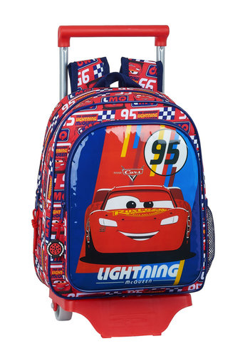"CARS MOCHILA INFANTIL 33CM C/CARRO ""RACING BLOCK"""
