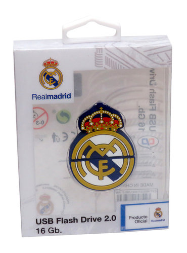 REAL MADRID PENDRIVE RUBBER 16GB