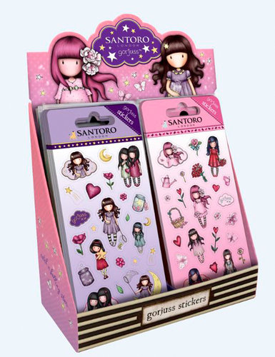 GORJUSS DISPLAY PEGATINAS C/GLITTER CATCH A FALLING STAR